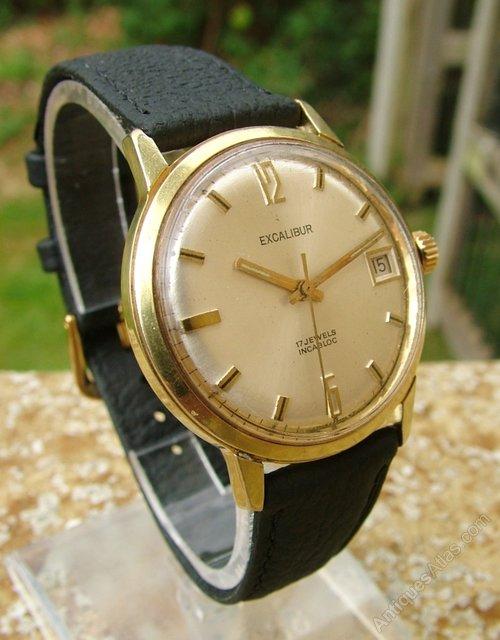 Antiques Atlas Gents 1960s Excalibur Wrist Watch