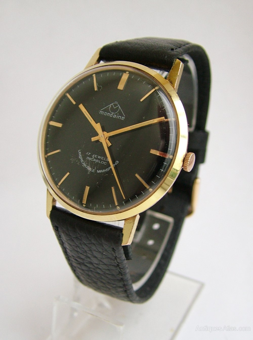 Antiques Atlas - Gents 1960s Mondaine Hand Winding Wrist Watch