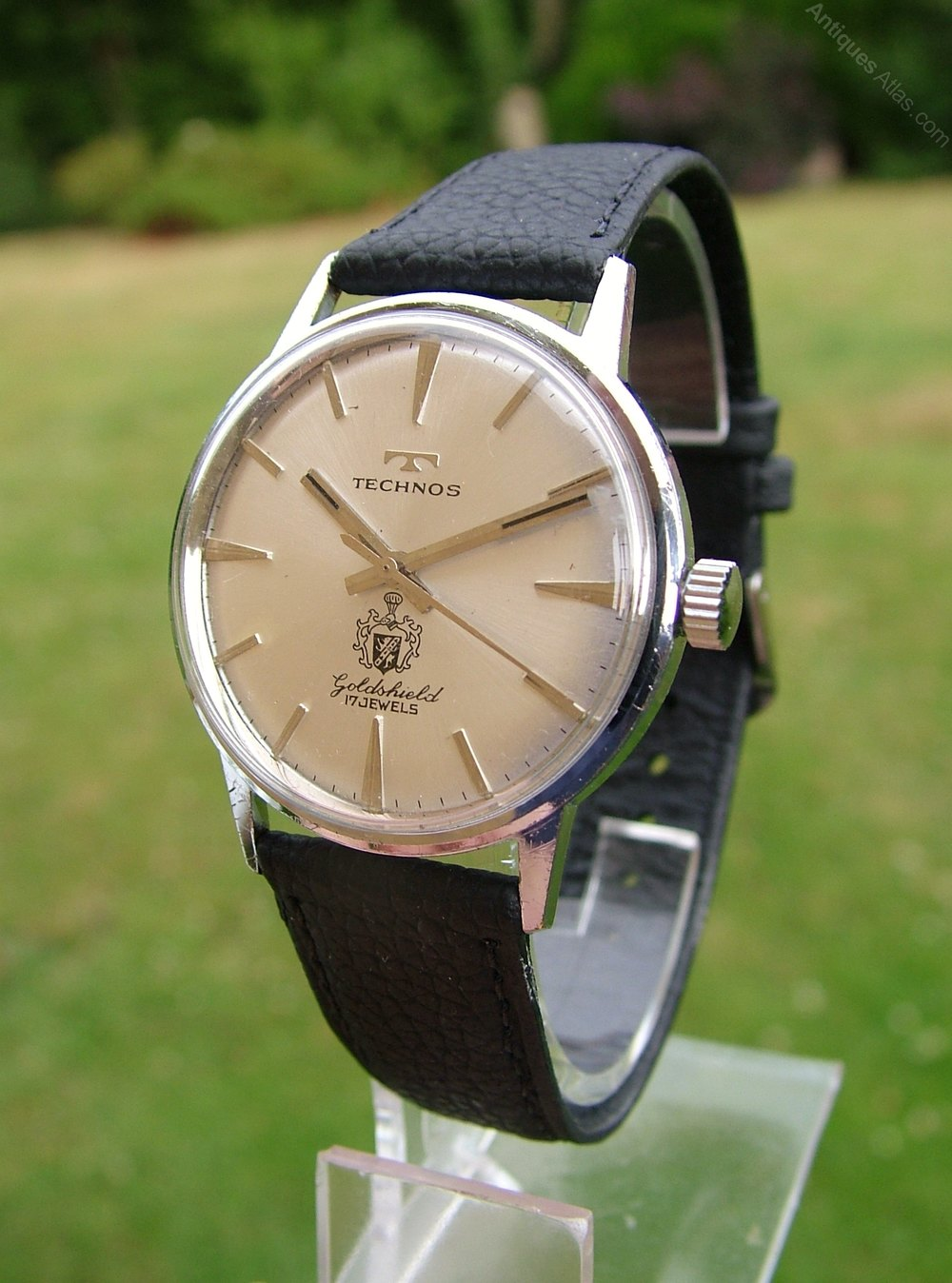 Antiques atlas gents 1960s technos goldshield wrist watch for Technos watches