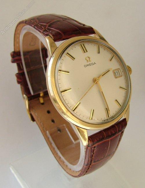 antiques atlas gents 1966 9ct gold omega wrist