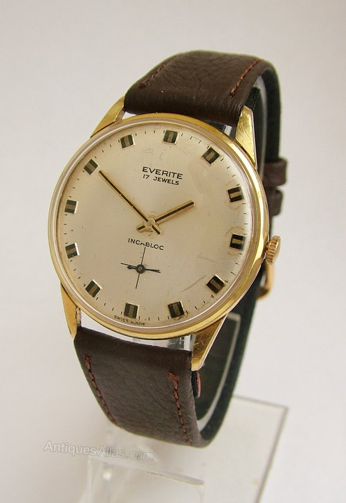 Antiques Atlas - Gents 1970s Everite Hand Winding Wrist Watch.