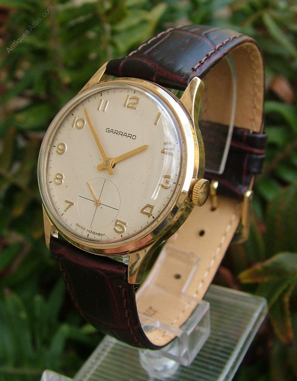 antiques atlas gents 9ct gold wrist garrard