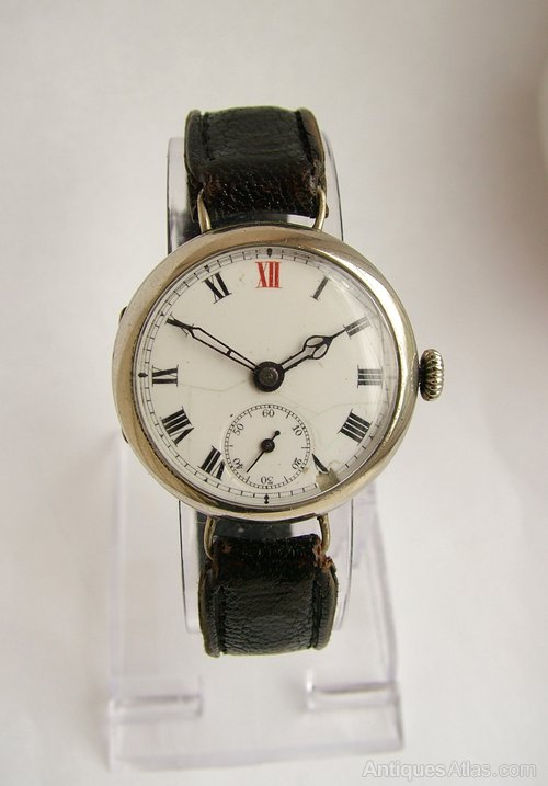 Antiques Atlas - Vintage 1920s Gents Hand Winding Trench Watch