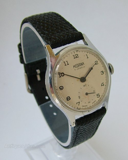Antiques Atlas - Vintage 1940s Medana Hand Winding Wrist Watch
