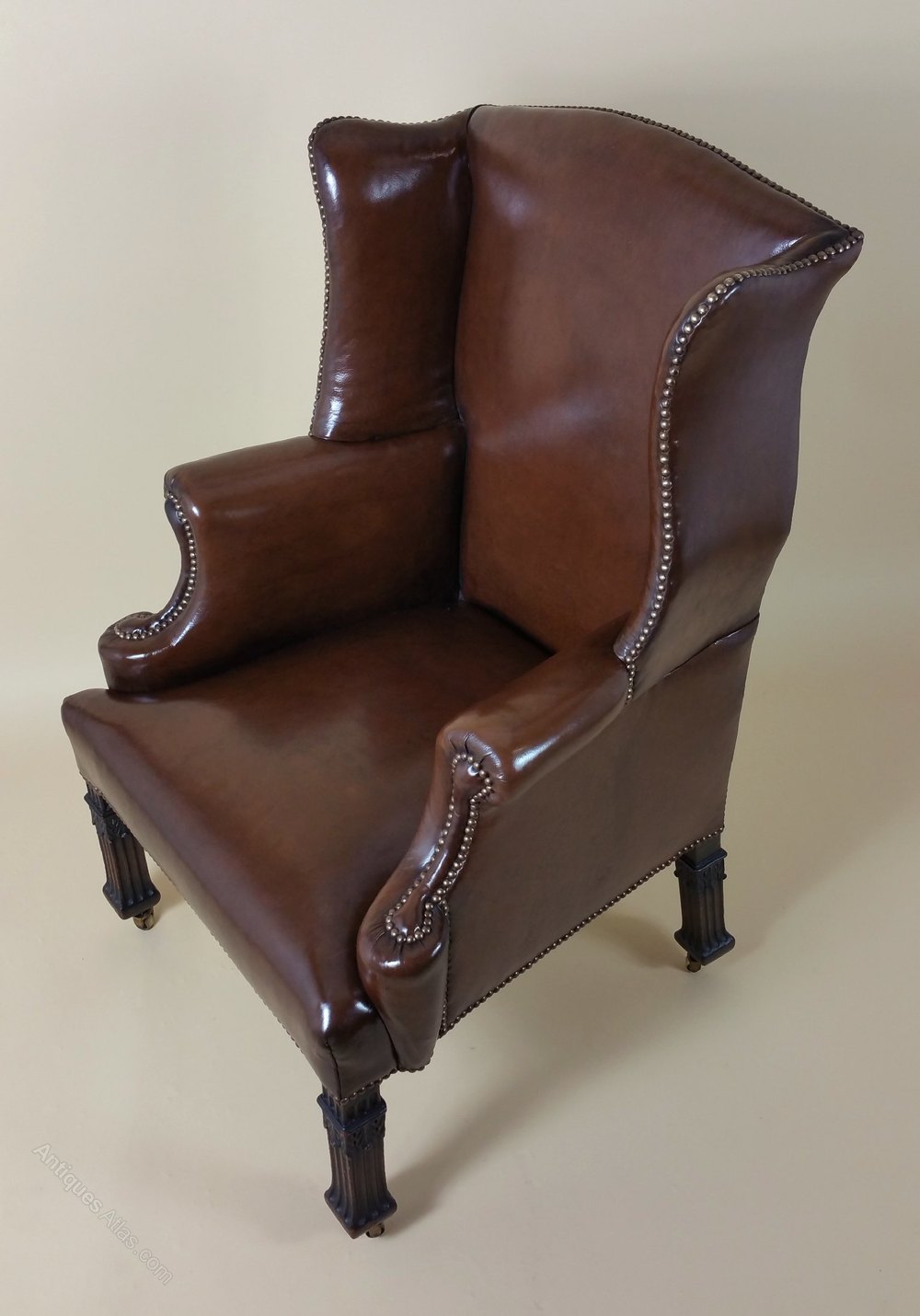 Superb Pair Of Victorian Leather Armchairs - Antiques Atlas