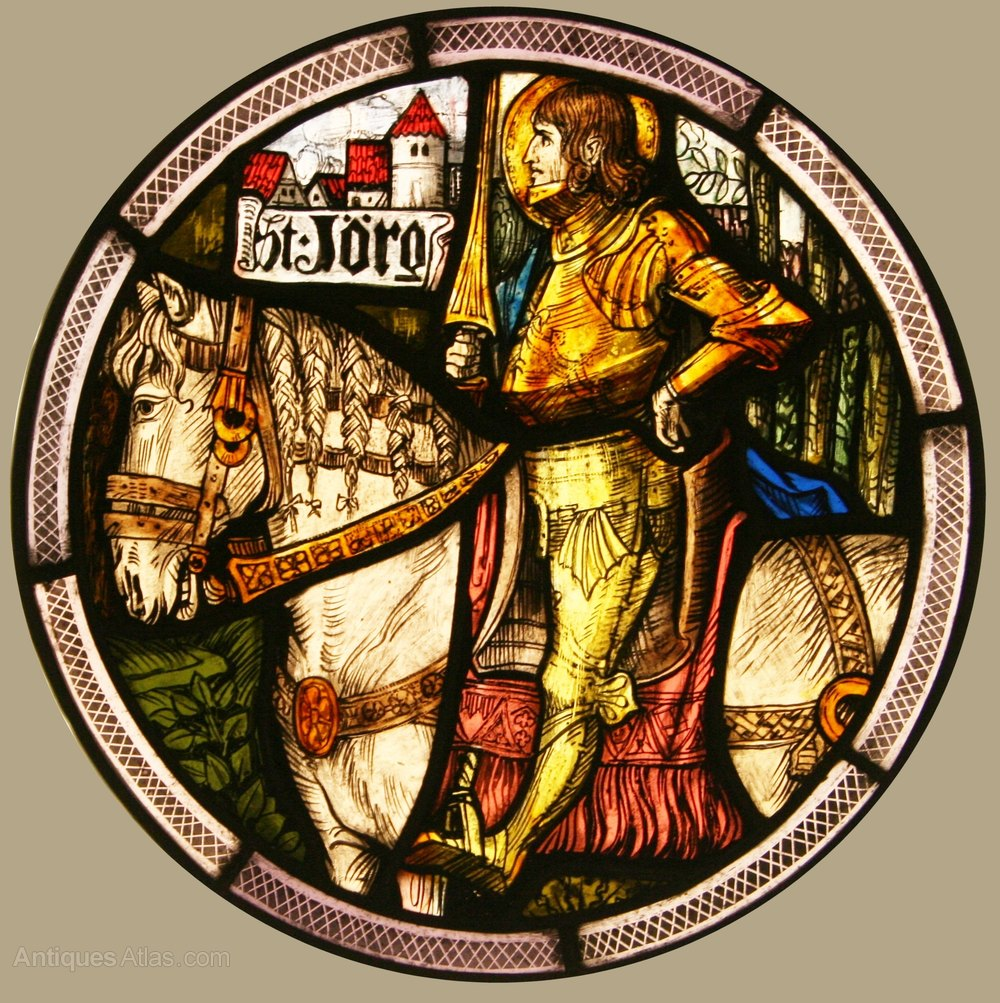 Antiques Atlas Antique Stained Glass Window St Jorge