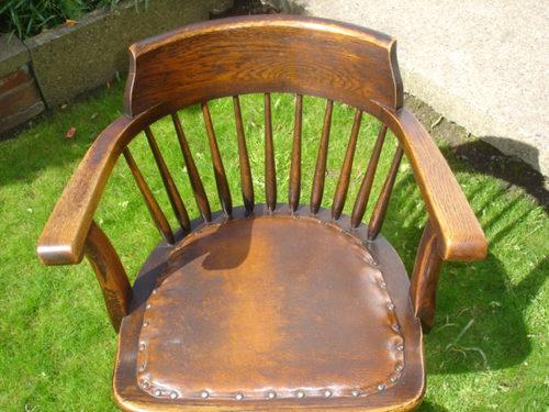 Antique Oak Swivel Desk Chair Office Chair Antiques Atlas