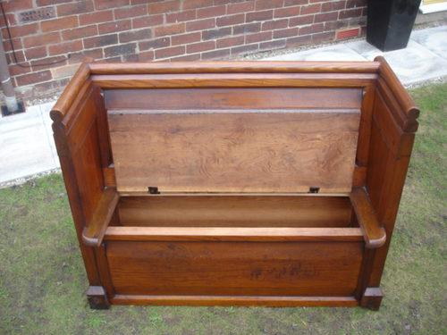 Antique Pine Settle Bench Pew Seat Antiques Atlas