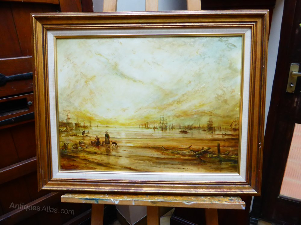 Antiques Atlas - Old Fashioned SeaView Listed Artist John L Chapman