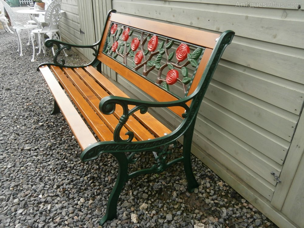 Antiques Atlas Cast Iron Wooden Garden Bench