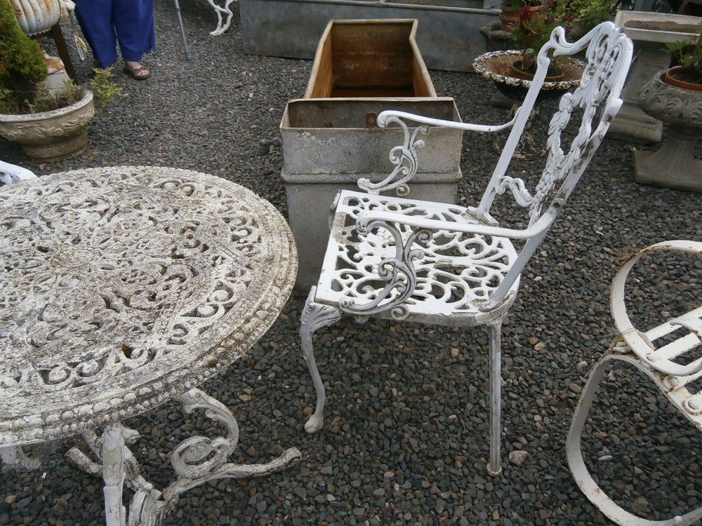 antiques atlas metal garden table and 2 chairs