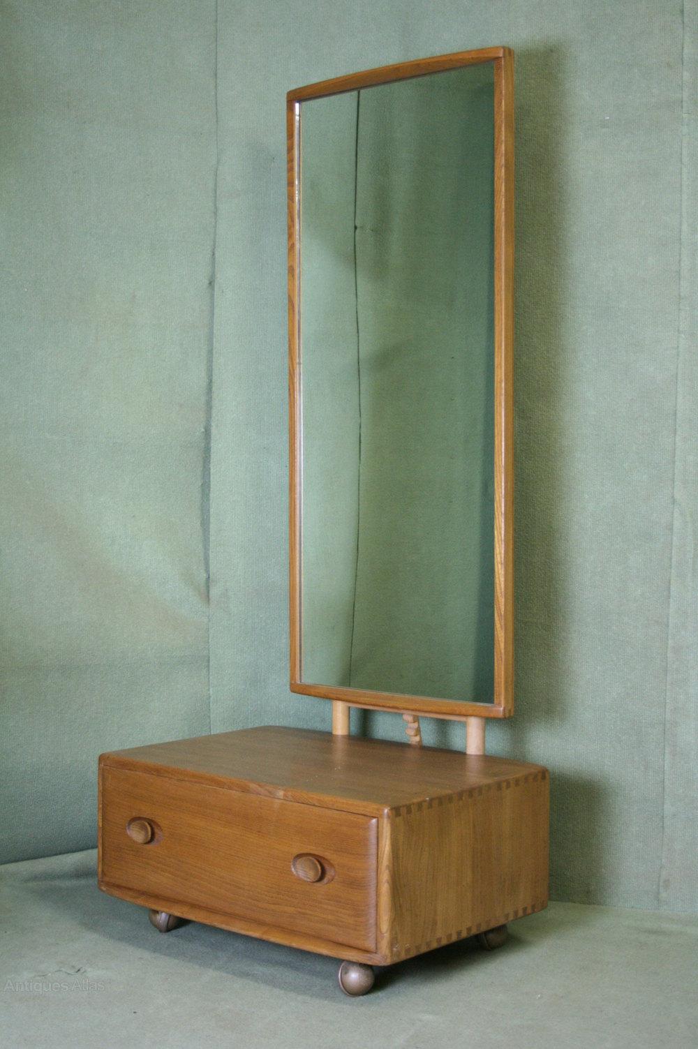 antiques atlas ercol windsor light elm cheval dressing mirror. Black Bedroom Furniture Sets. Home Design Ideas