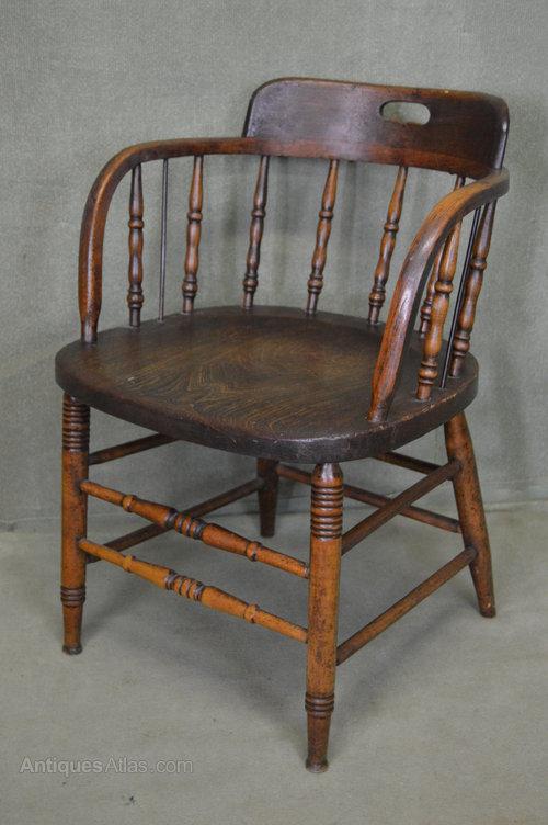 Victorian captains chair office chair antiques atlas
