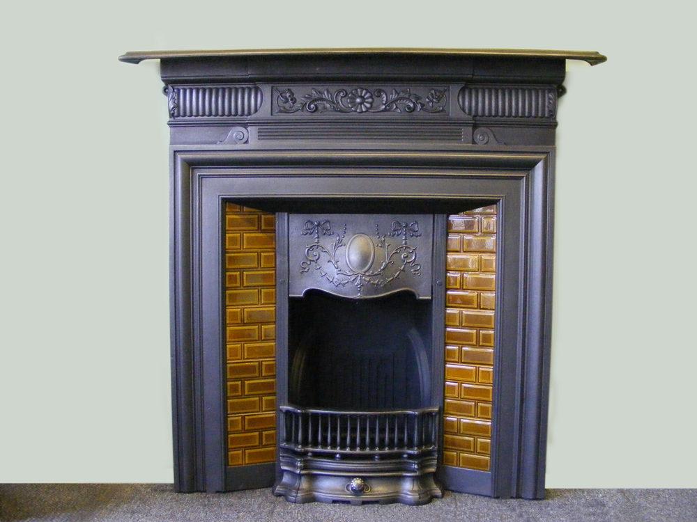 Antiques Atlas - Edwardian Tiled Fireplace