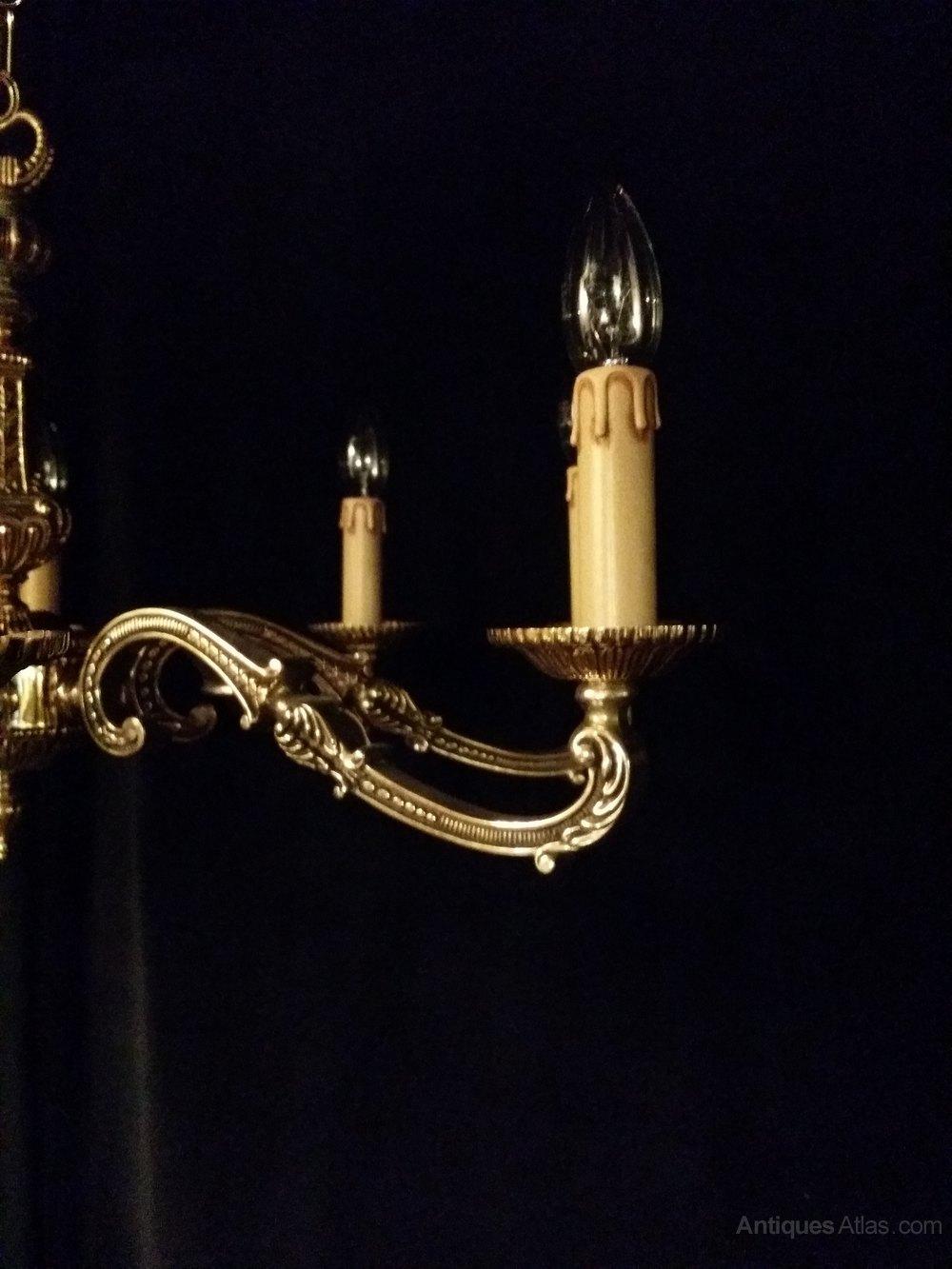 Antiques Atlas Antique Brass Chandelier