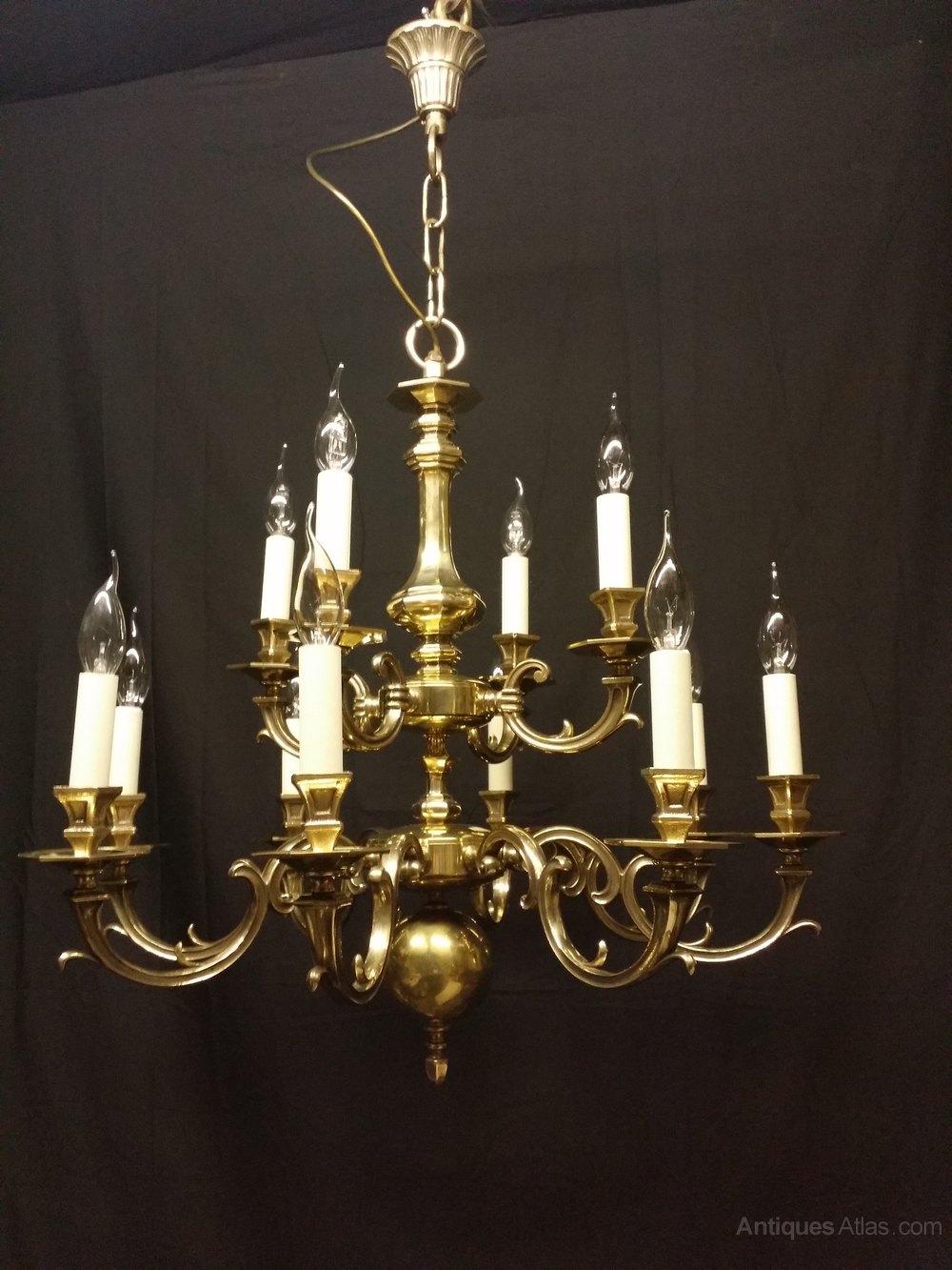 Antiques Atlas Antique Brass Flemish Chandelier