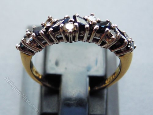 antiques atlas 18ct gold and sapphire ring uk