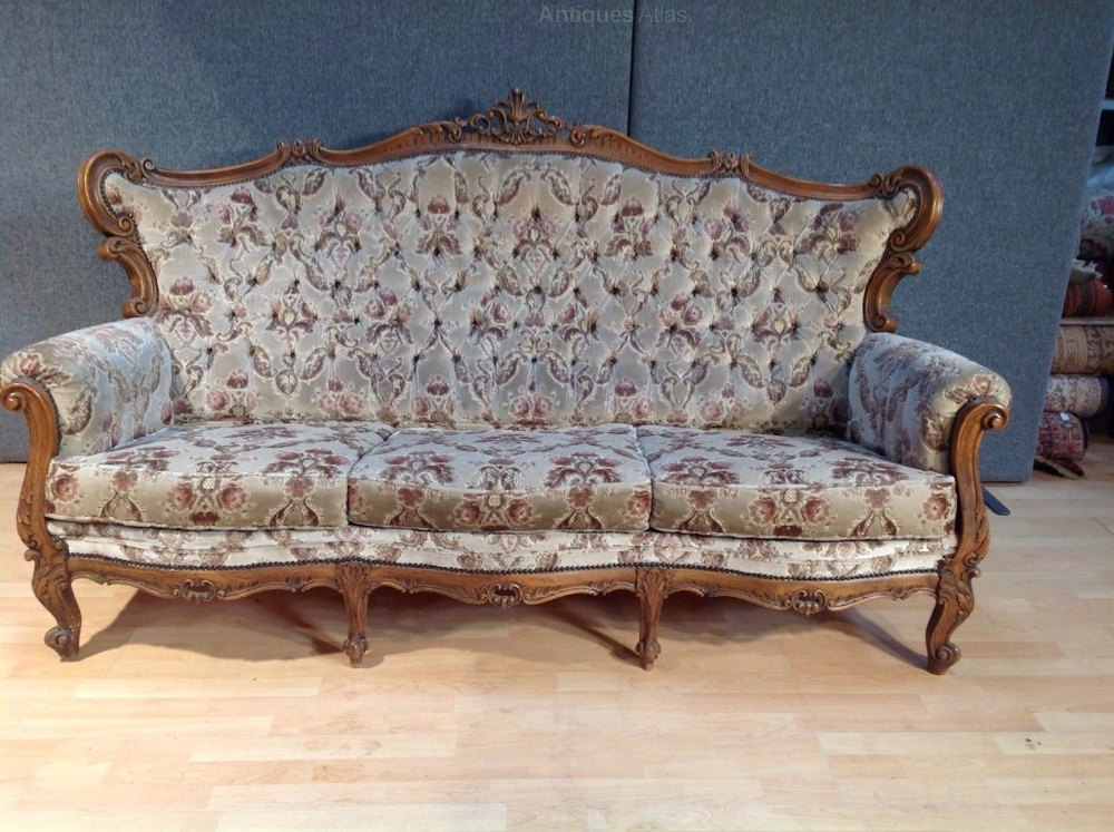 Antiques atlas antique french upholster louis style sofa settee Antique loveseat styles