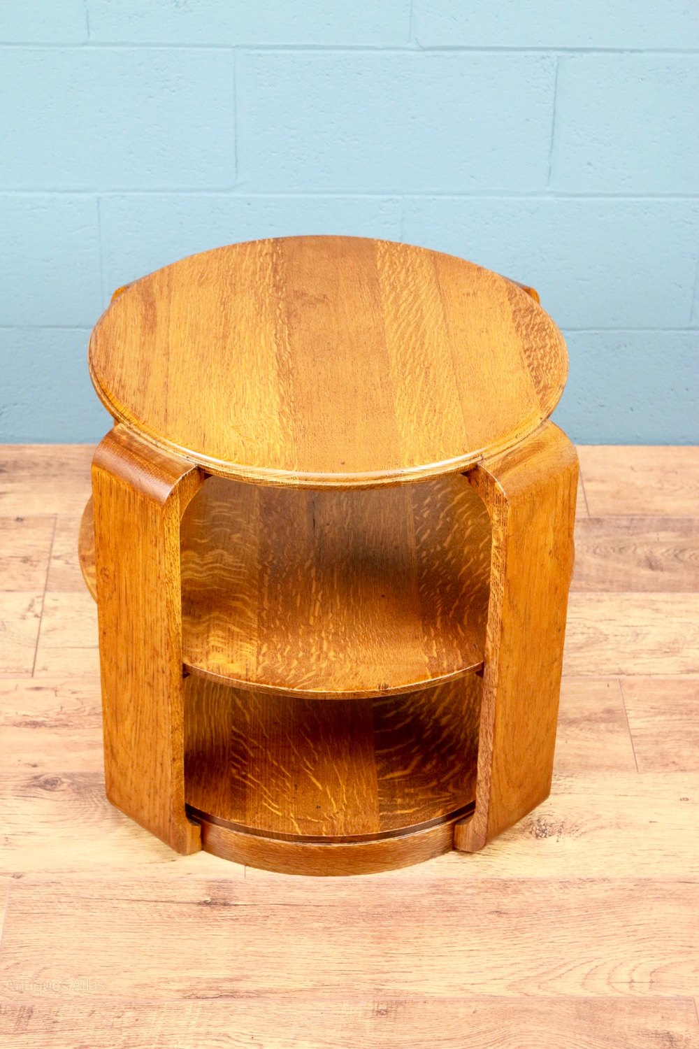 Art deco oak book table antiques atlas for Table de nuit art deco