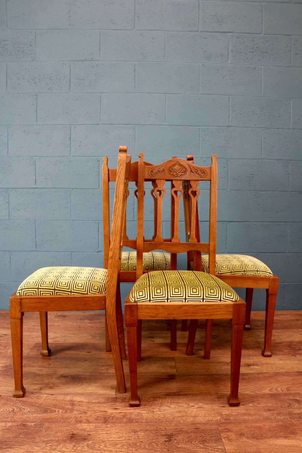 Arts and crafts dining chairs antiques atlas - Arts and crafts dining room furniture ...
