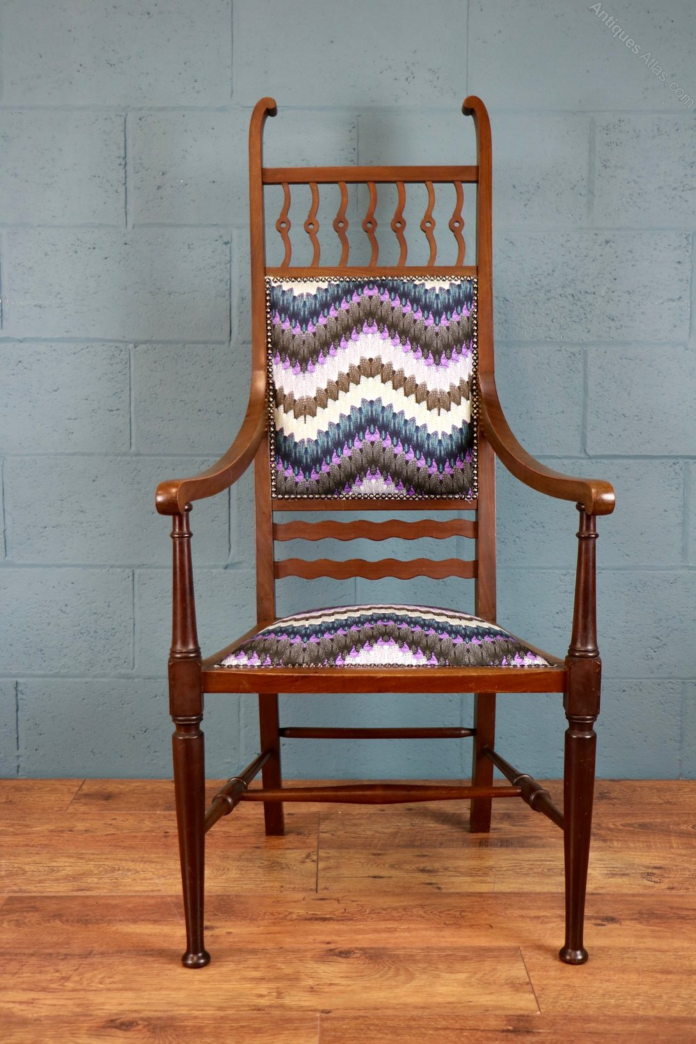 Arts And Crafts High Back Chair Antiques Atlas