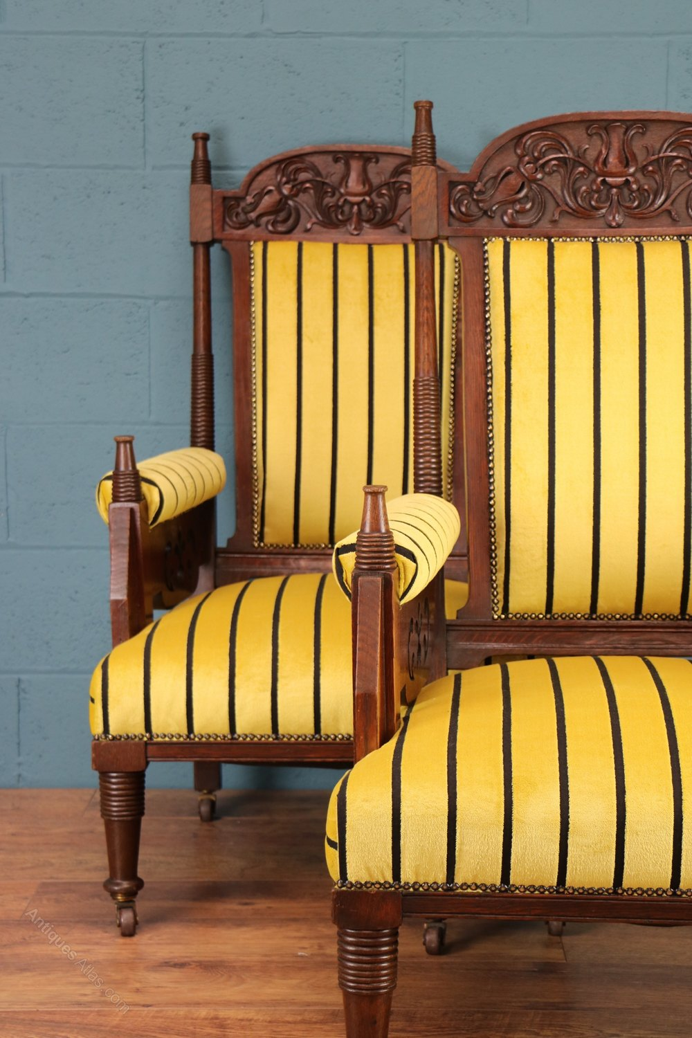 Carved Oak Armchairs Liberty Amp Co Antiques Atlas