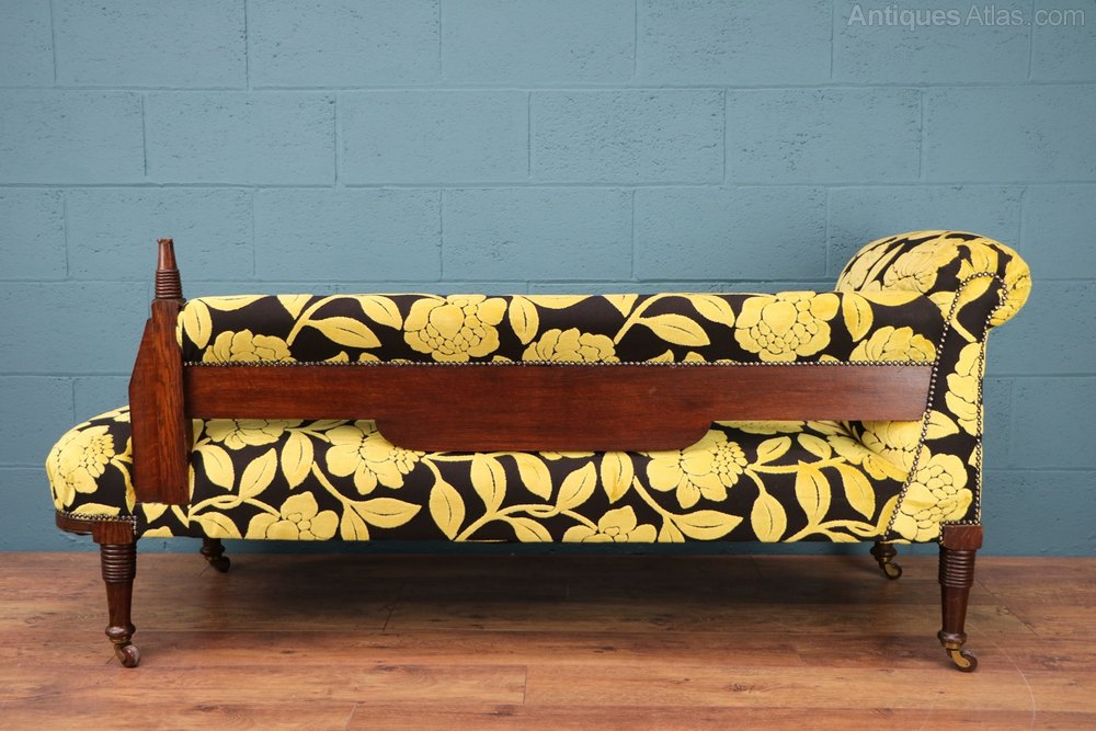 Carved oak chaise longue day bed liberty co for Chaise longue day bed