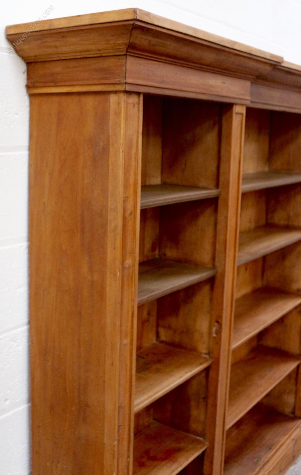 Large 19th Century Pine Breakfront Bookcase Antiques Atlas