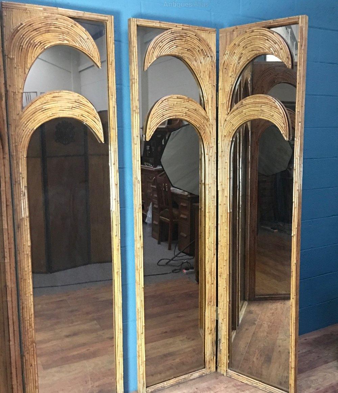Antiques Atlas Pair Of Art Deco Bamboo Mirror Screens