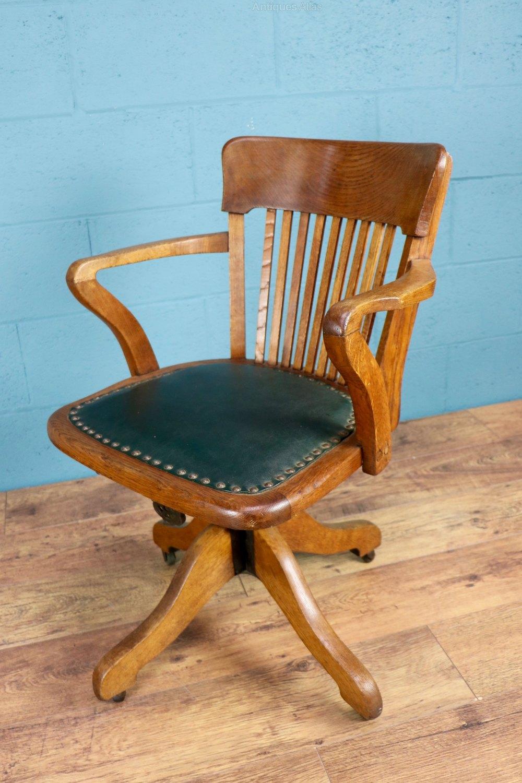Reclining oak desk chair antiques atlas