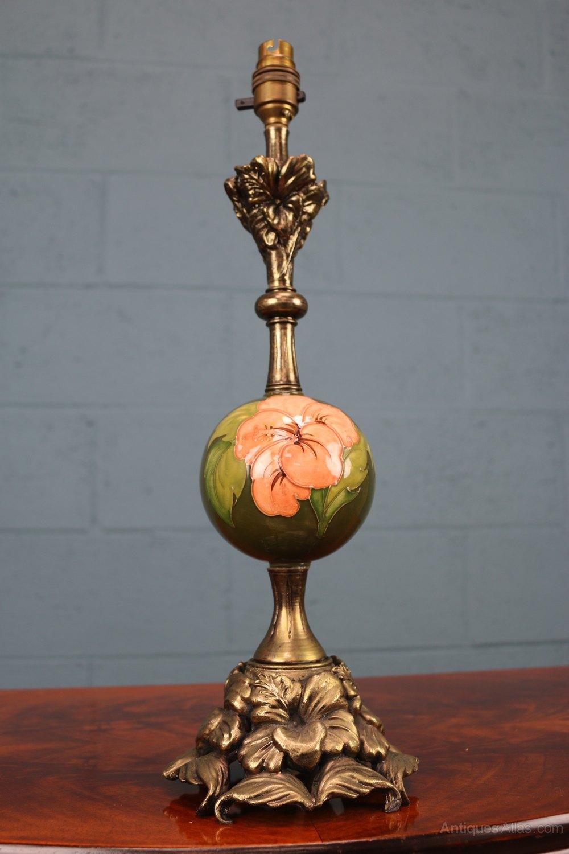 Antiques Atlas Walter Moorcroft Quot Hibiscus Quot Lamp