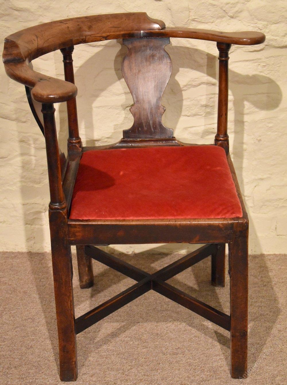 an early george iii walnut corner chair antiques atlas