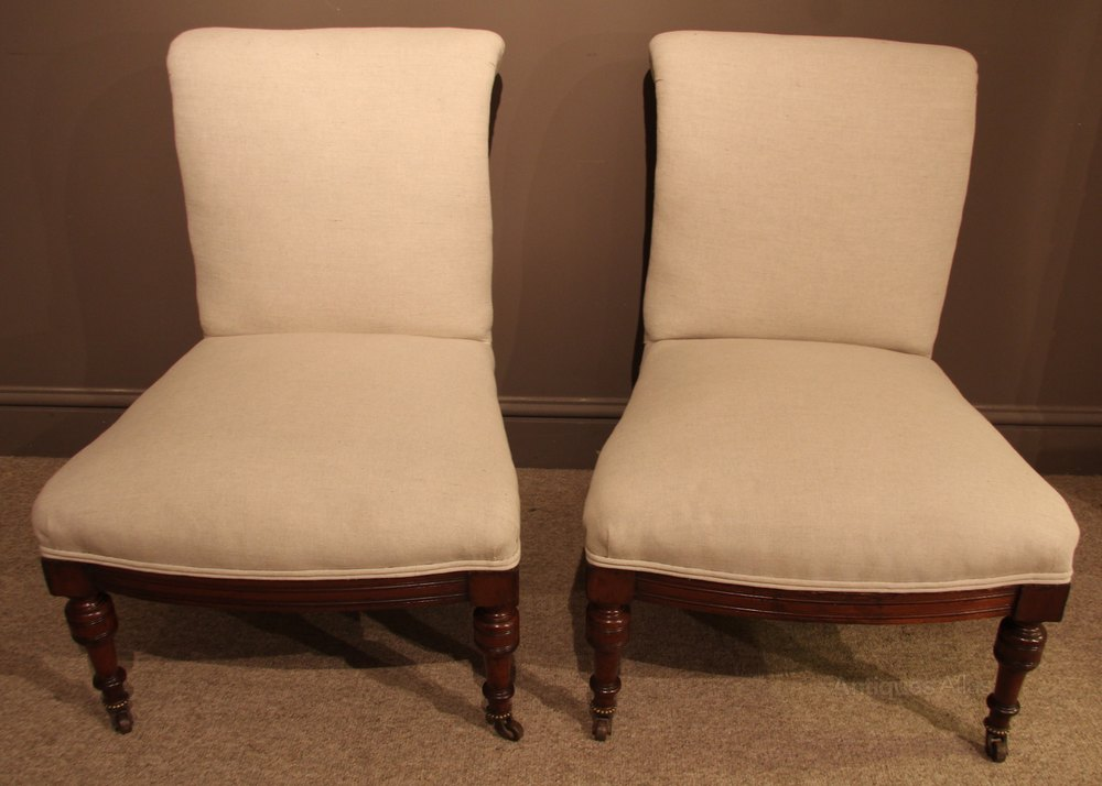 Pair Of 19th Century Mahogany Bedroom Chairs Antiques Atlas