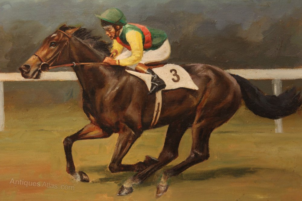 Antique Horse Racing Paintings For Sale