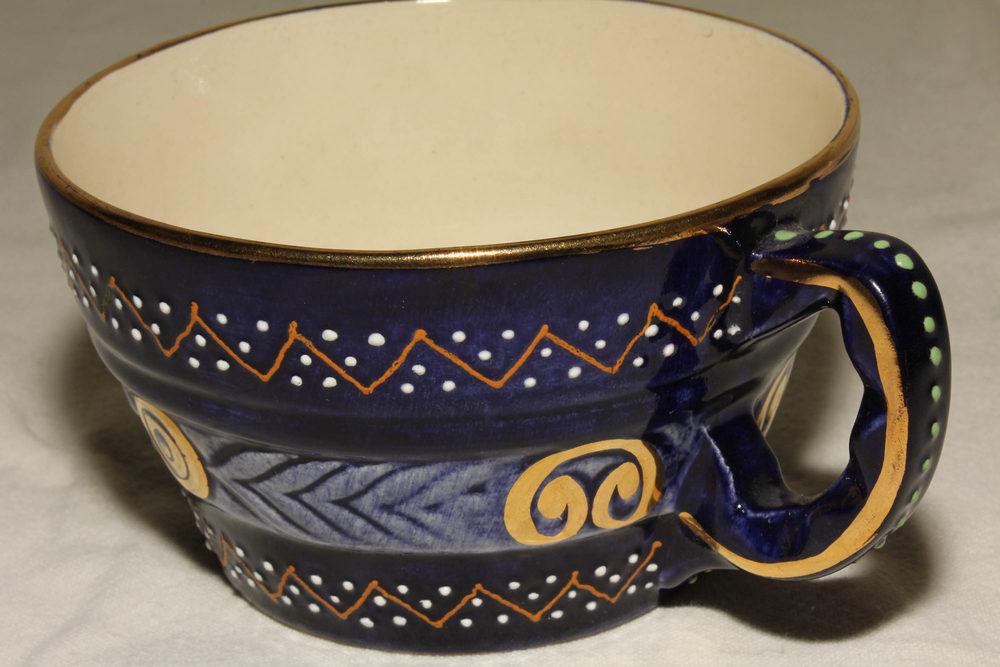 Antiques Atlas Quimper Large Coffee Cup Saucer