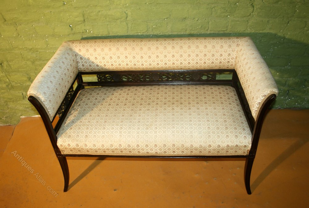 edwardian mahogany windows seat chaise longue antiques atlas