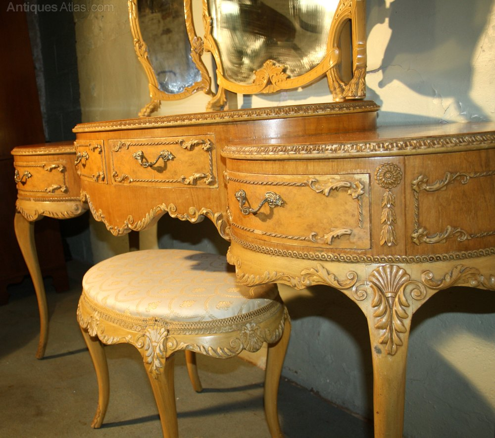 Antiques Atlas Louis Rococo Walnut Exotic Dressing Table