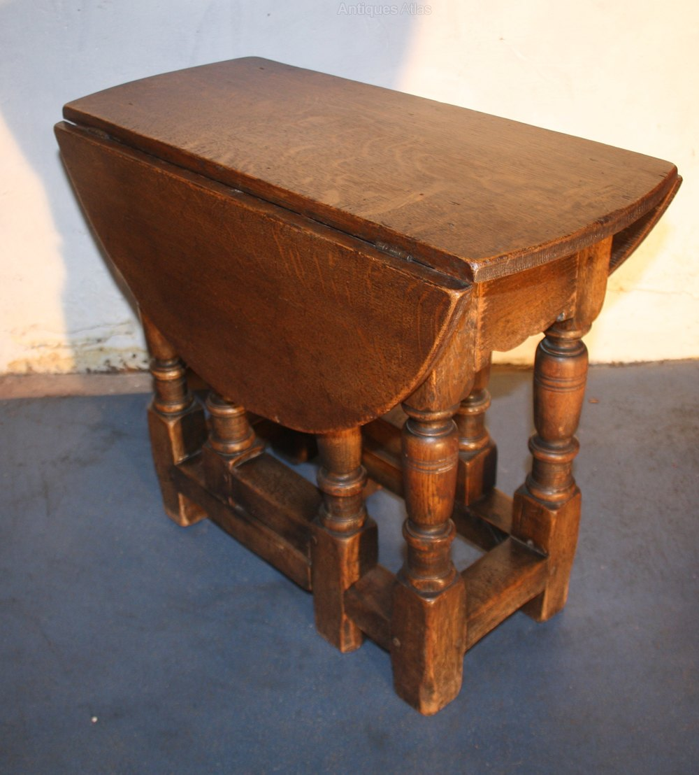 Oak Small Jacobean 1920s Drop Leaf Coffee Table Antiques Atlas
