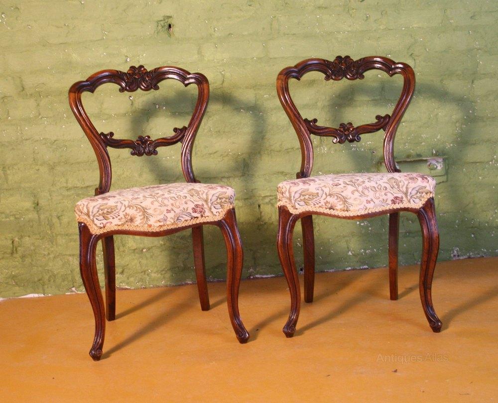 Rosewood Bedroom Furniture Victorian Pair Of Rosewood Bedroom Chairs 1850 Antiques Atlas