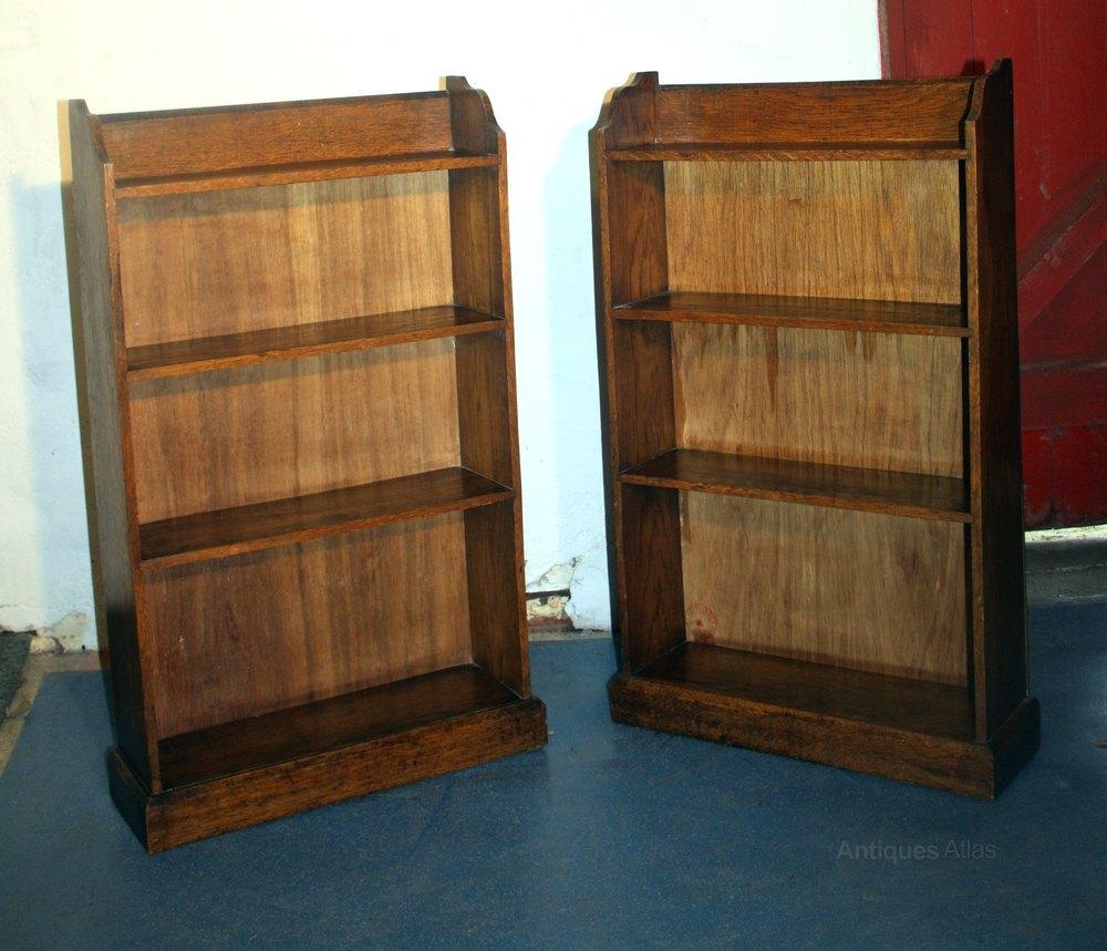 victorian pair petite oak bedroom bookcases antiques atlas
