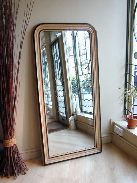 Antiques atlas narrow tall early 20th century mirror for Tall skinny mirror