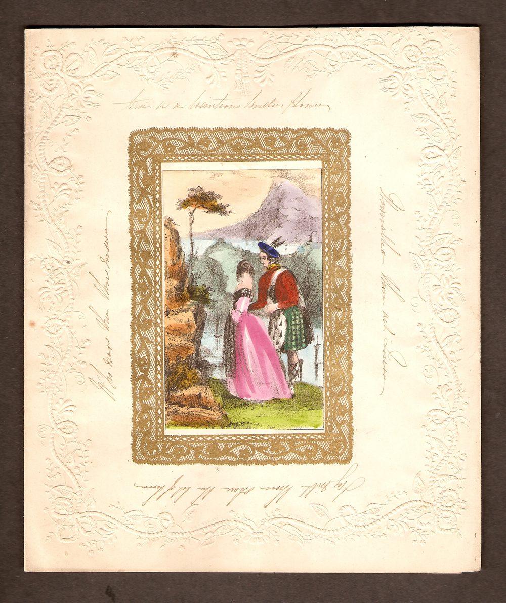 antiques atlas  scottish victorian valentine card of