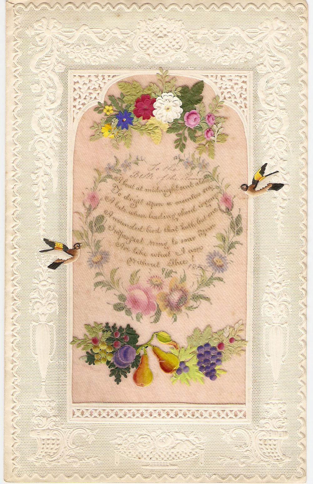 antiques atlas - victorian paper lace valentine