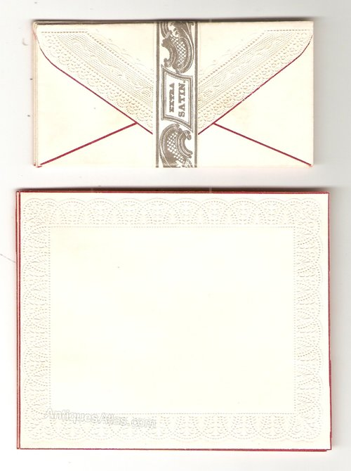 Victorian writing paper