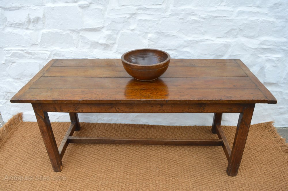 18thC Oak Farmhouse Dining Table Antiques Atlas