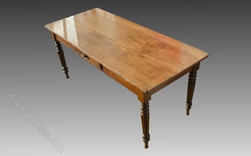 19thC Oak Farmhouse Refectory Dining Table Antiques Atlas