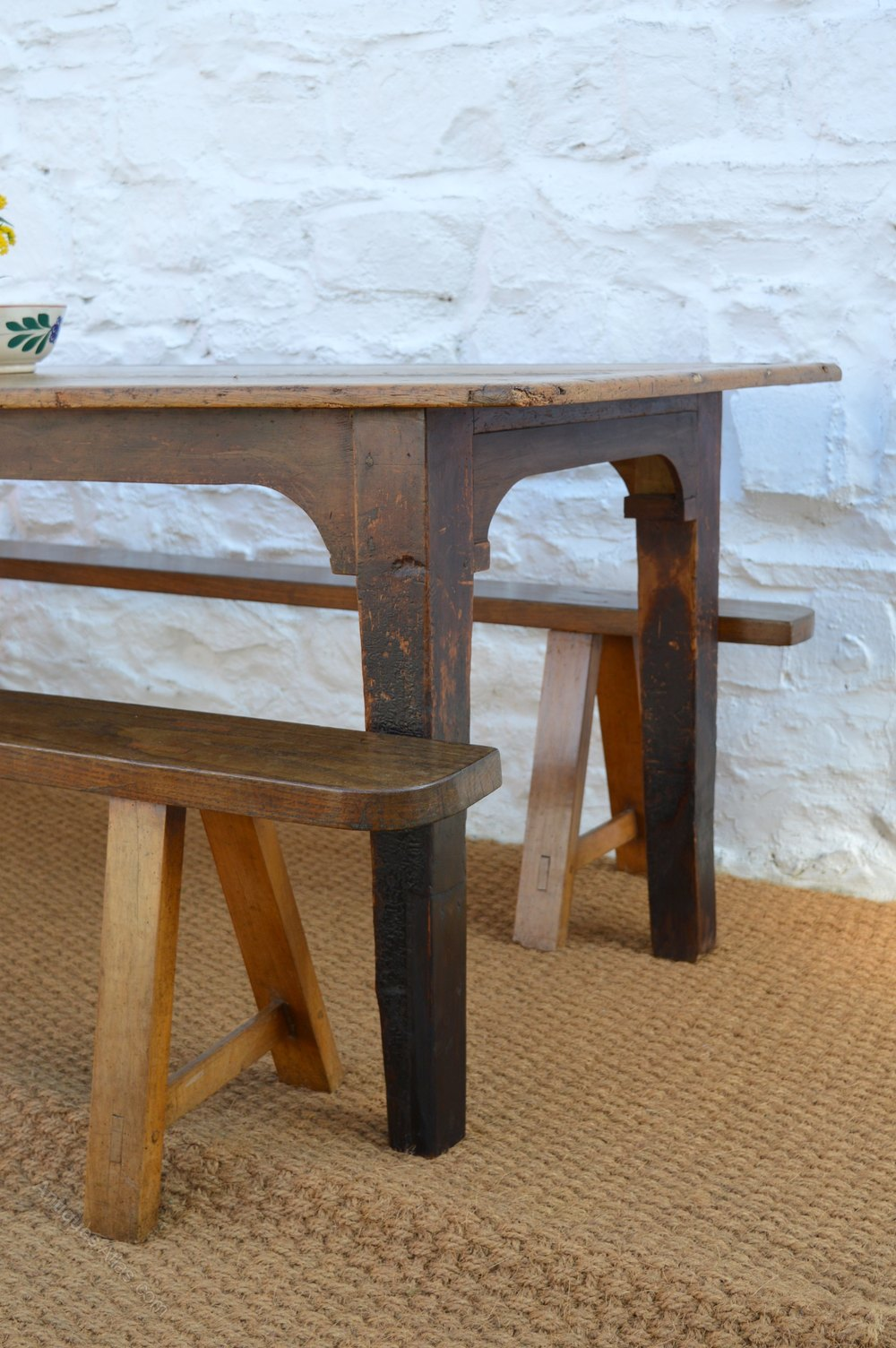 19thC Pine Farmhouse Dining Table Antiques Atlas