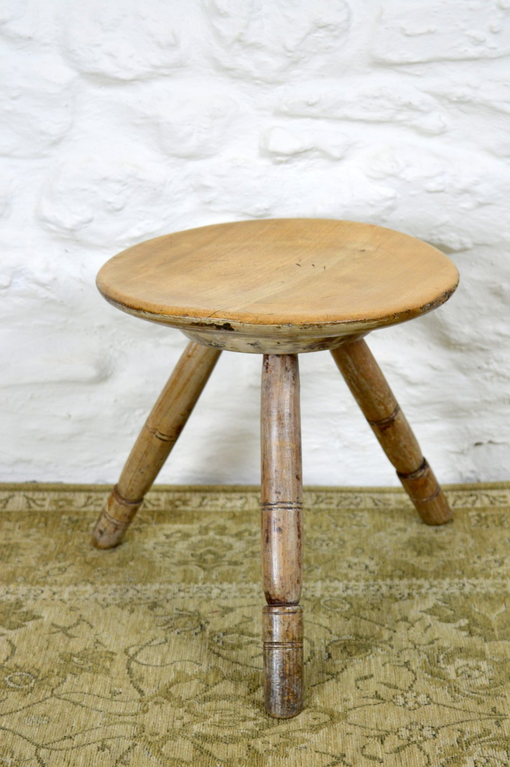 19thc Welsh Sycamore Dairy Stool Antiques Atlas
