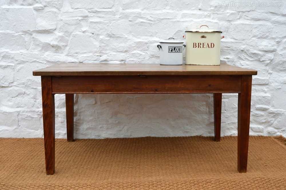 19thc Teak Farmhouse Dining Table 5ft Antiques Atlas