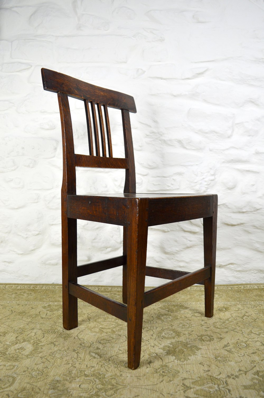 set of 4 18thc welsh oak dining chairs antiques atlas. Black Bedroom Furniture Sets. Home Design Ideas